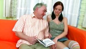 Watch actress sex where lubricious wench allows old guy to give her cunnilingus