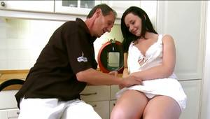 Don't lose this chance to watch gf porn where little babe is owned by old guy