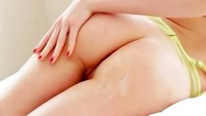 sandy colored sluttish whore is sucking the heavy knob